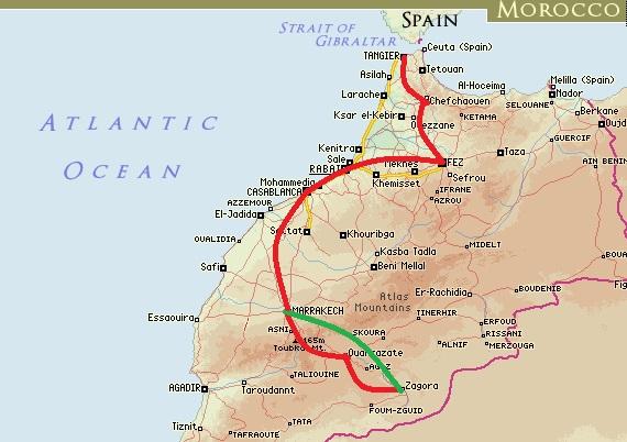 Maroko Itinerary